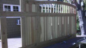D004 - Homeowner - Wood Sliding Gate With Vinyl 07