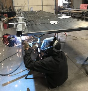 2_-gate frame being welded to DuraGates Track