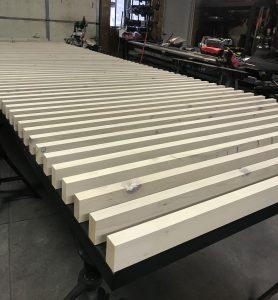 3_ Gate frame with wood slats_