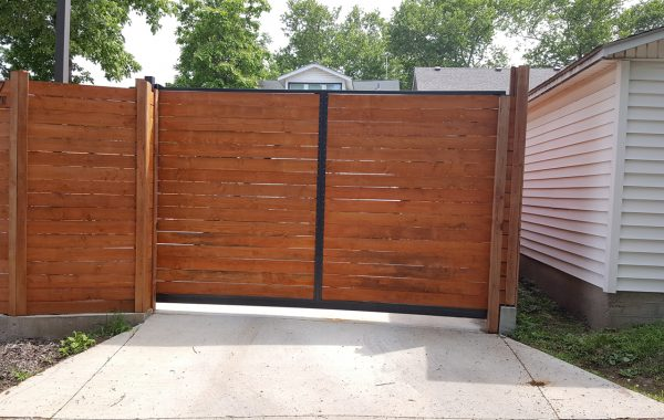Sliding Wood Gate at Residence in Missouri