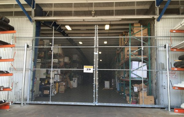 Warehouse Double Sliding Security Gate