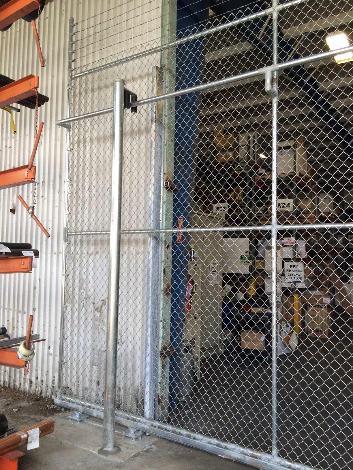 Warehouse Double Sliding Security Gate Duragates The