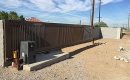 Sliding gate at home in new mexico