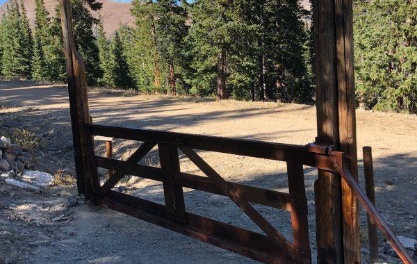 Wood Framed Cantilever Sliding Gate in Tucson, AZ