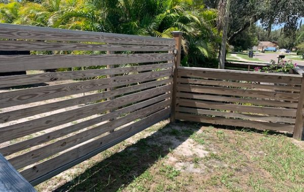 Simple Wood Gate at a Residence in Florida
