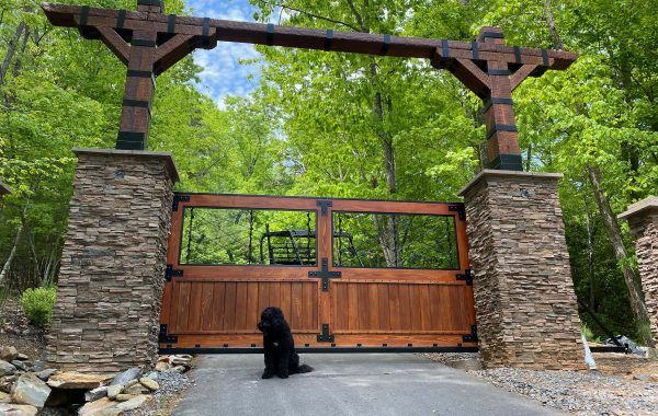 Ornate Wooden Gate at Rental Property