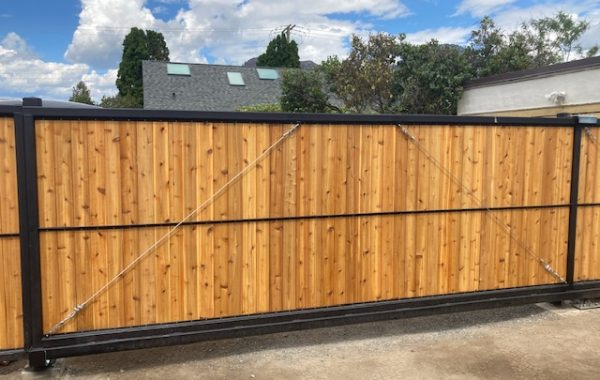 Wood Gate with Steel Frame