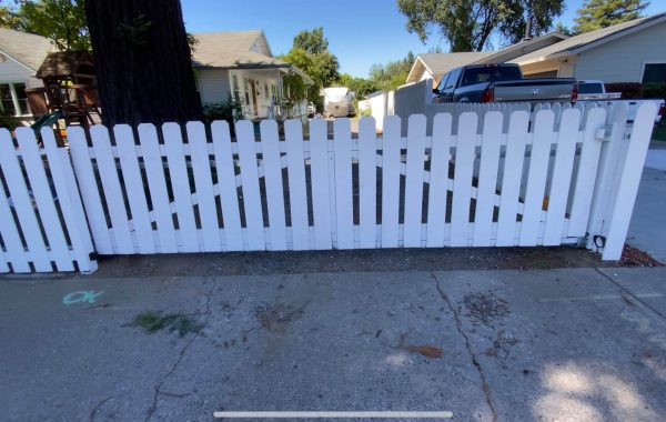 White Picket Gate at Residence in California