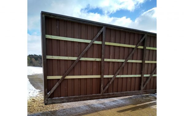 Privacy Gate installed at Construction Yard