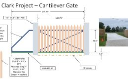 Concept of DuraGates and Picture before Gate was Installed
