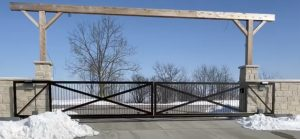 Double slide gate in missouri