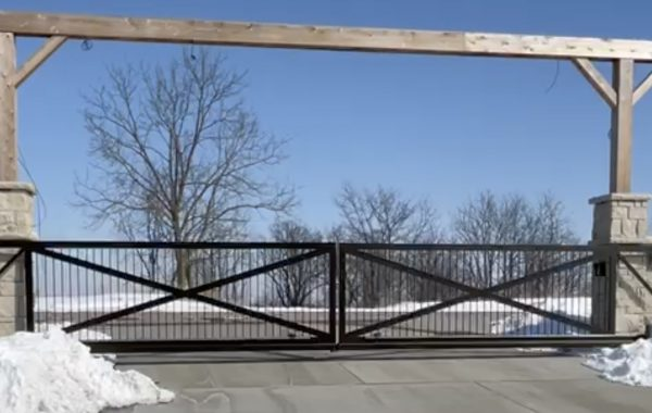 Double Cantilever Driveway Gate in Jefferson City, Missouri