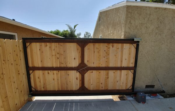 Matching Slide Gate and Fence at a Residence in California