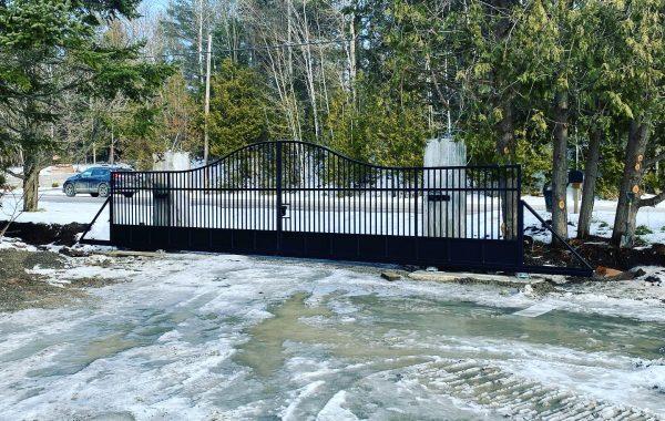 Dual Aluminum Sliding Gates in Ontario, Canada