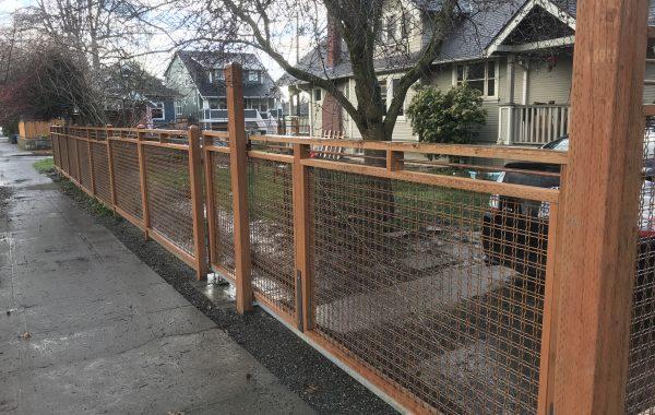 Residential Cantilever Gate in Portland, Oregon