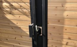 Gate 06 Closed with Sliding Gate Lock from Locinox
