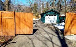 cantiliver sliding gate half open