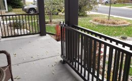 open sliding gate on porch