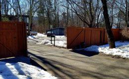 sliding gate from inside fully open