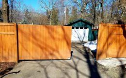 sliding gate from outside