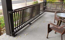 sliding gate on front porch