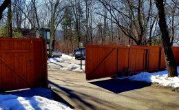 sliding gate showing deimos gate operator