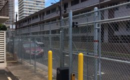 sliding gate with chain operator