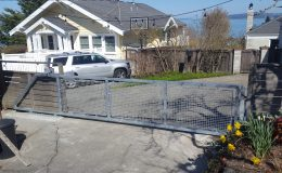 cantilever driveway gate closed