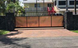 cantilever gate closed