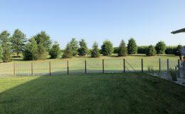 cantilever gate in backyard