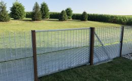 sliding gate barely visible when closed
