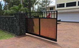 sliding gate half open