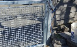 sliding gate in closed position