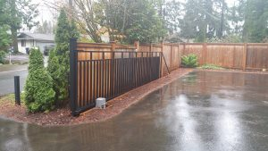 sliding gate is in open positiion