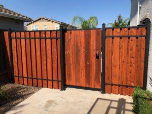 wood gate closed